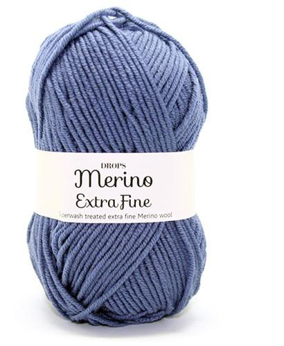 Drops Merino Extra Fine Uni Colour 13 Denimblauw