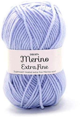 Drops Merino Extra Fine Uni Colour 14 IJsblauw