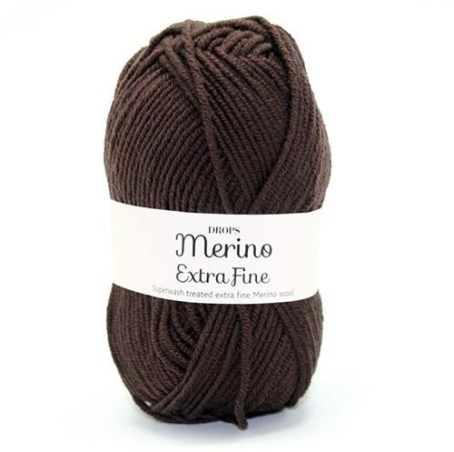 Drops Merino Extra Fine Uni Colour 09 Donkerbruin