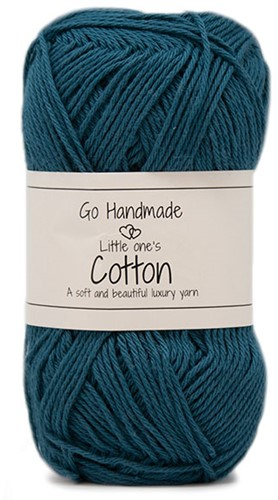 Go Handmade Little Ones Cotton 38 Petrol Blue