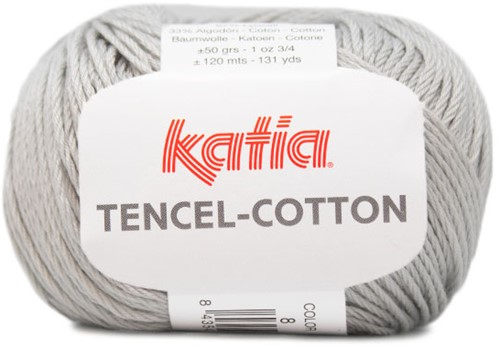 Katia Tencel-Cotton 008 Pearl light grey