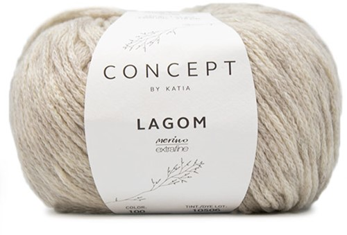 Katia Lagom 100 Very light grey