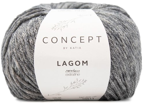 Katia Lagom 105 Dark grey