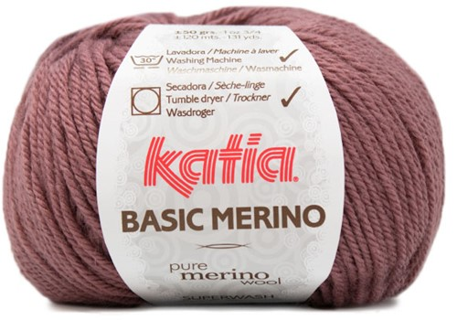 Katia Basic Merino 74 Dark rose