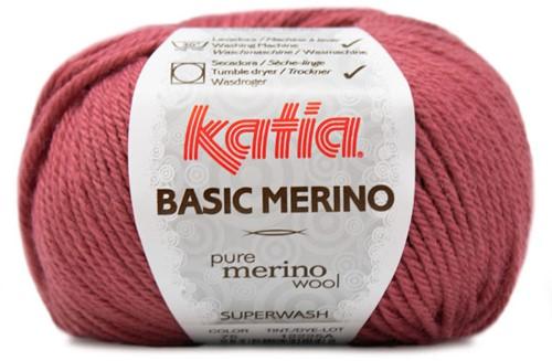 Katia Basic Merino 75 Raspberry red