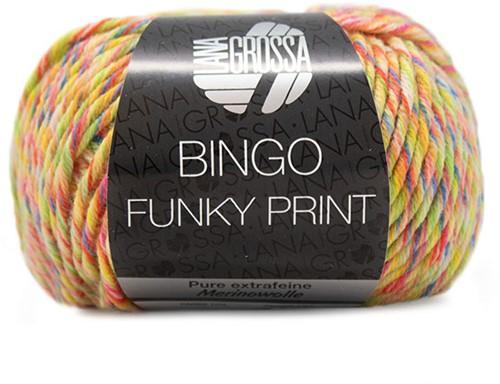 Lana Grossa Bingo Funky Print 408 Yellow / Orange / Pink / Royaal