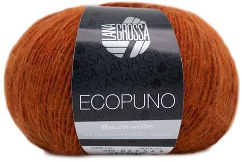 Ecopuno Ajour Sjaal Breipakket 2 Cinnamon brown