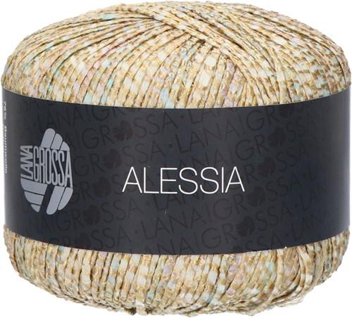 Alessia Overslag Trui Breipakket 2 44 Golden yellow / light gray / gray brown