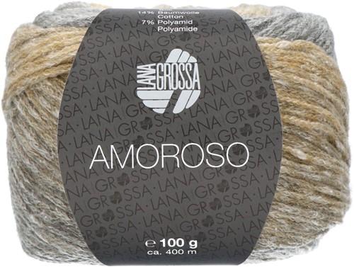 Amoroso Omslagdoek Breipakket 2 Grège / green beige / light gray / sand yellow