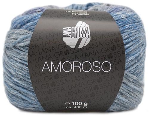 Amoroso Omslagdoek Breipakket 3 Light gray / jeans / violet blue / gray