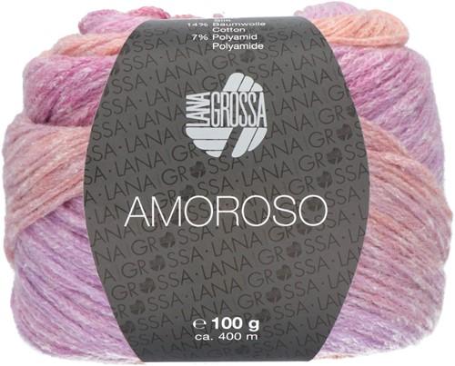 Amoroso Omslagdoek Breipakket 4 Old pink / fuchsia / orange
