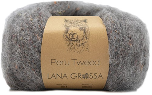 Lana Grossa Peru Tweed 4 Grey