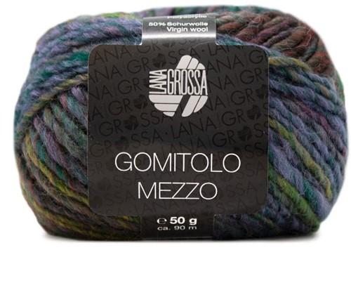 Lana Grossa Gomitolo Mezzo 110 Black-Green / Jeans / Mustard / Turquoise / Blue-Violet / Aubergine / Yellow-Green / Ocher