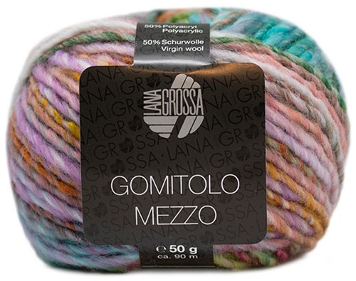 Lana Grossa Gomitolo Mezzo 121 Orange / Light green / Pink / Purple / Rose / Turquoise / Petrol