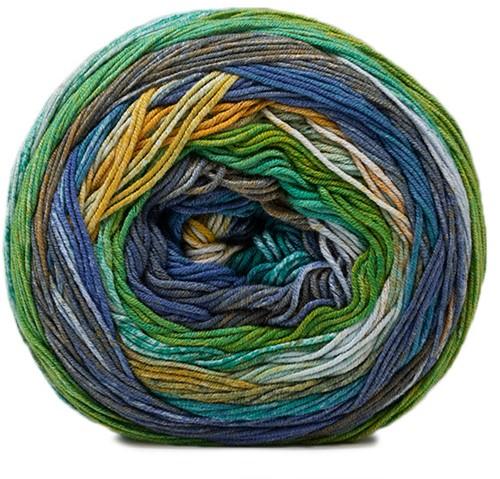 Lana Grossa Gomitolo Denim Inca 151 Khaki / Turquoise / Light Blue / Yellow-Green / Jade / Petrol