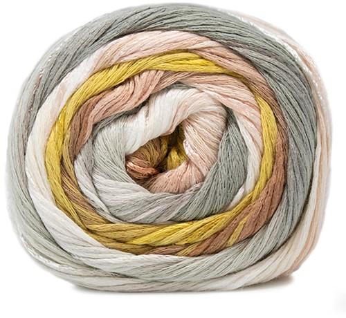 Lana Grossa Gomitolo Doppio 204 White / Beige / Sand / Mustard / Khaki / Light Grey / Grey-Brown