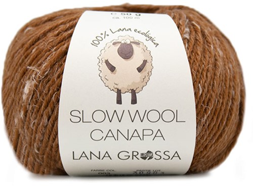Lana Grossa Slow Wool Canapa 003 Brown