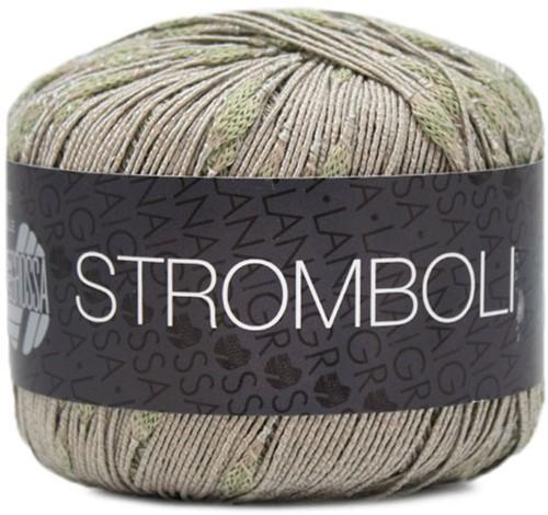 Lana Grossa Stromboli 106 Green-Beige