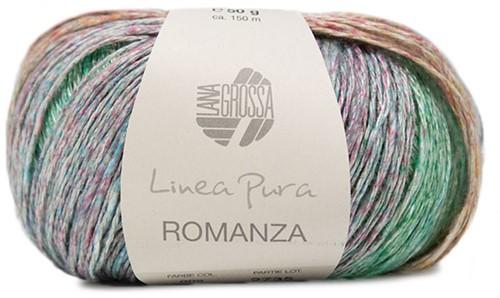 Lana Grossa Romanza 002 Pastel Orange / Lilac / Jade / Turquoise / Grey-Blue / Red