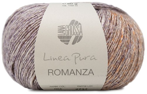 Lana Grossa Romanza 004 Linen / Green-Grey / Light Grey / Blue-Lila / Grey / Light Orange
