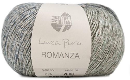Lana Grossa Romanza 005 Terracotta / Grey-Red / Petrol / Grey-Green / Mint / Light Grey