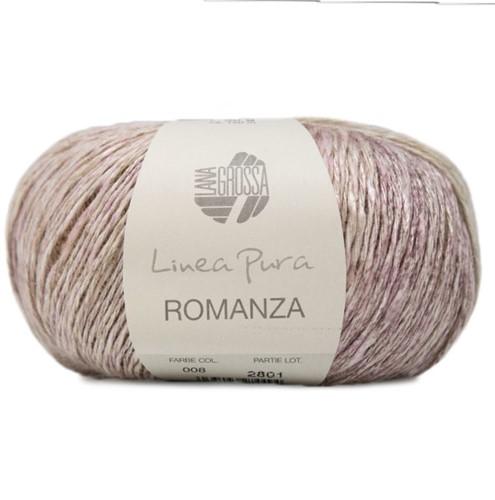 Lana Grossa Romanza 008 Mint / Green-Grey / Grey / Aubergine-Grey / Khaki / Pistachio