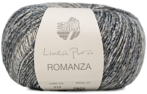 Lana Grossa Romanza 010 Linen / Blue-Grey / Medium and Dark Grey / Anthracite