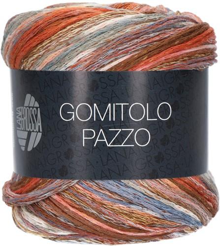 Lana Grossa Gomitolo Pazzo 811 Brown / blue / gray colored