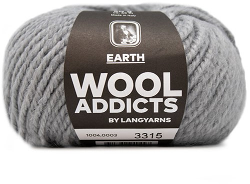 Lang Yarns Wooladdicts Earth 003 Light Grey Mélange