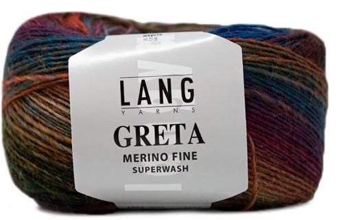 Lang Yarns Greta 056 Clove / Red / Brown