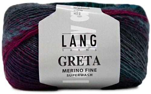 Lang Yarns Greta 152 Turquoise / Fuchsia / Grey