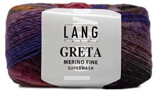 Lang Yarns Greta 153 Salmon / Lilac / Green