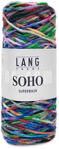 Lang Yarns Soho 051 Dark green/pink