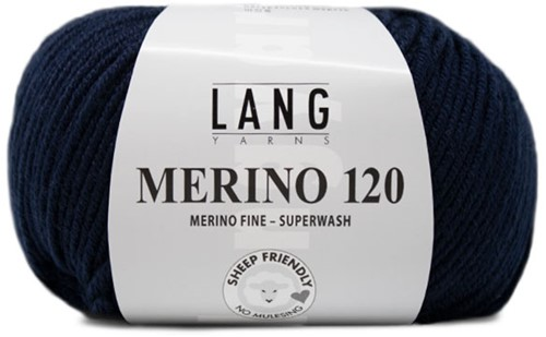 Lang Yarns Merino 120 035 Navy