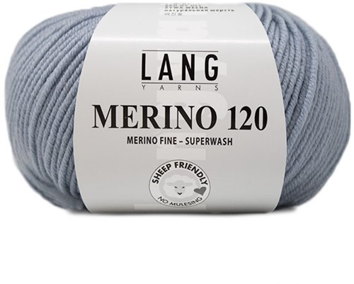 Lang Yarns Merino 120 123 Silver-Grey