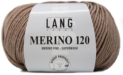 Lang Yarns Merino 120 126 Grey-Brown