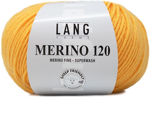 Lang Yarns Merino 120 149 Gold-Yellow