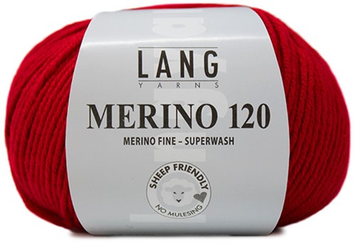 Lang Yarns Merino 120 160 Fire Red