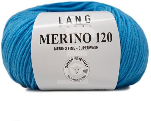 Lang Yarns Merino 120 178 Turquoise