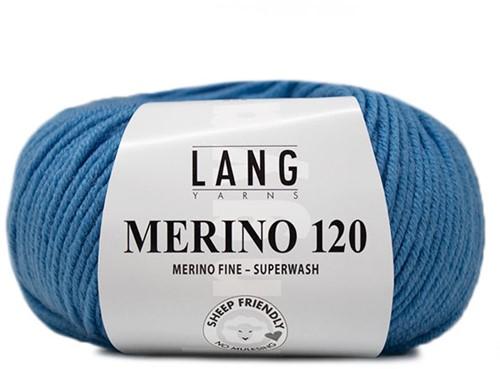 Lang Yarns Merino 120 206 Medium Blue