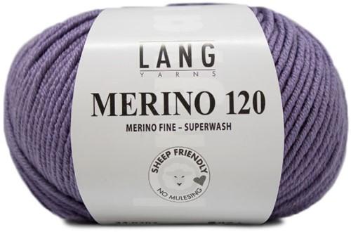 Lang Yarns Merino 120 207 Purple