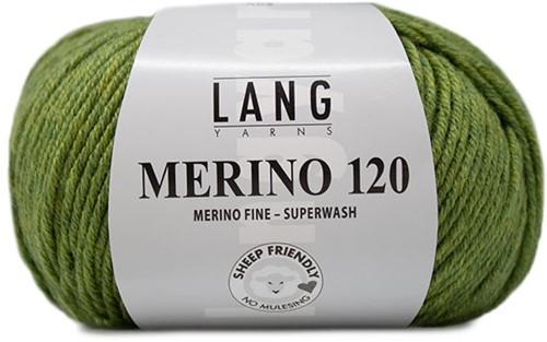 Lang Yarns Merino 120 297 Light Olive Mélange