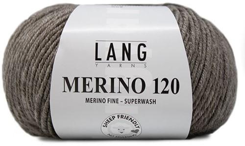 Lang Yarns Merino 120 326 Dark Beige Mélange