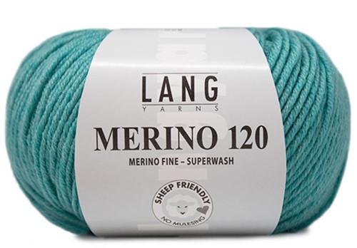 Lang Yarns Merino 120 372 Aqua Mélange