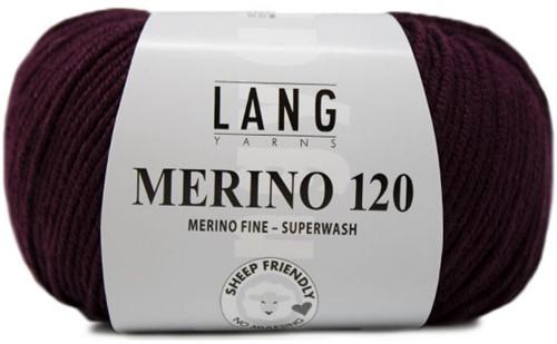 Lang Yarns Merino 120 390 Aubergine