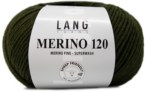 Lang Yarns Merino 120 498 Leads Green