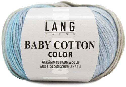 Lang Yarns Baby Cotton Color 020 Light blue/light grey