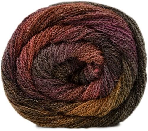 Lang Yarns Novena Color 011 Mustard yellow/brown/rose