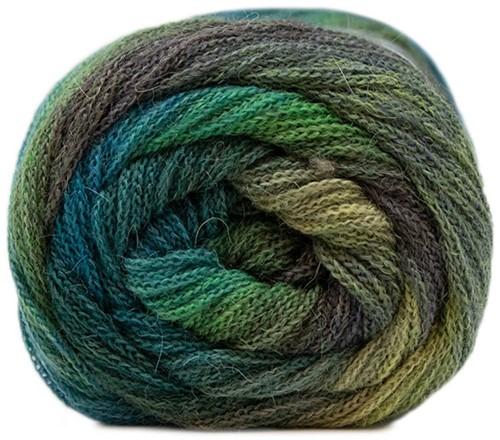 Lang Yarns Novena Color 016 Green/blue/turquoise
