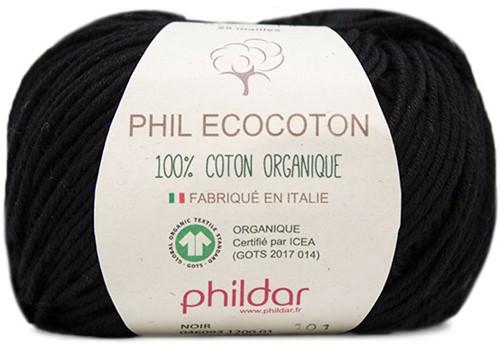 Phildar Phil Ecocoton 1200 Noir
